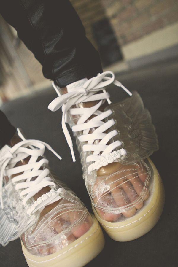 Beautifu Bestling Sport Adidas Obyo Tongue Shoes Brown White Women T24m6621