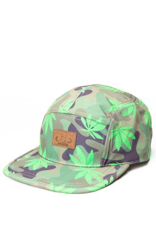 38b3fdeddd1 Marijuana-Camo-5-Panel-Hat