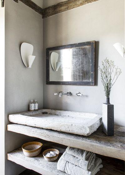 le style campagne dans la salle de bain d co rustique et naturelle en 2019. Black Bedroom Furniture Sets. Home Design Ideas