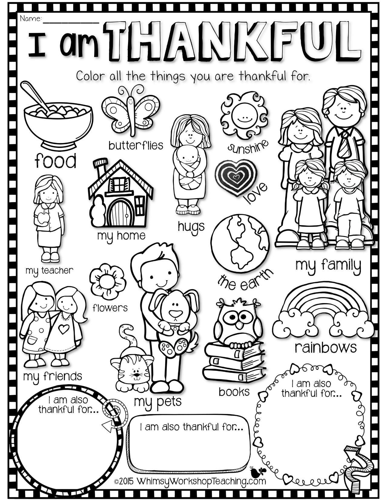Thanksgiving Coloring Sheet
