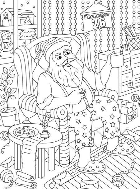 Christmas Coloring Book: An Adult Coloring Book with Fun ...