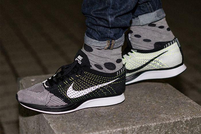 huge discount 72f7e f0b5c NIKE FLYKNIT RACER (VOLT FLYWIRE) - Sneaker Freaker. The Black White ...