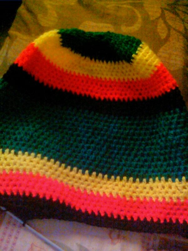 Done by me | rasta hat | Pinterest