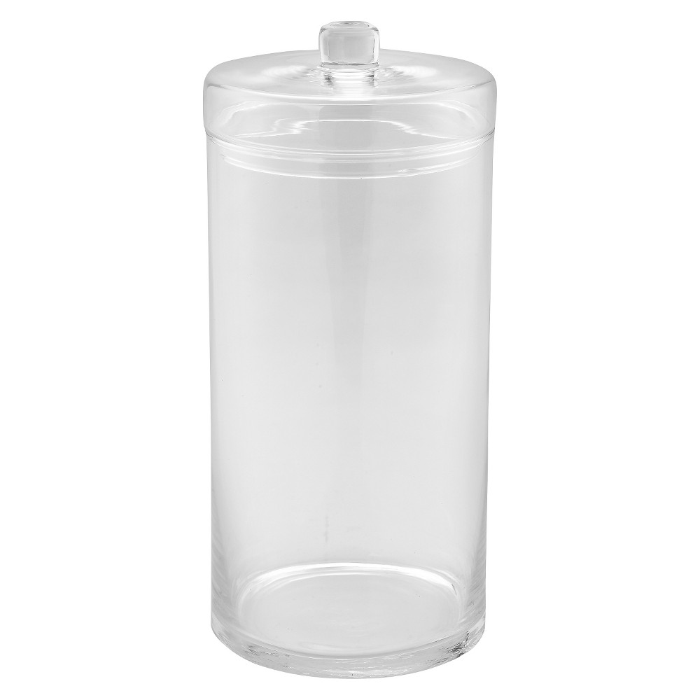 Diamond Star Glass Apothecary Jar with Lid Clear (14x6.5)