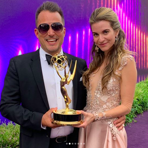 Photo of Rachel McCord hadde på seg en Daalarna Couture-kjole på Emmys
