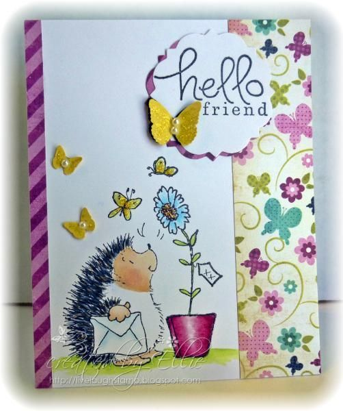 Hello Friend by Ellibelle  Cards and Paper Crafts at Splitcoaststampers  Hello Friend