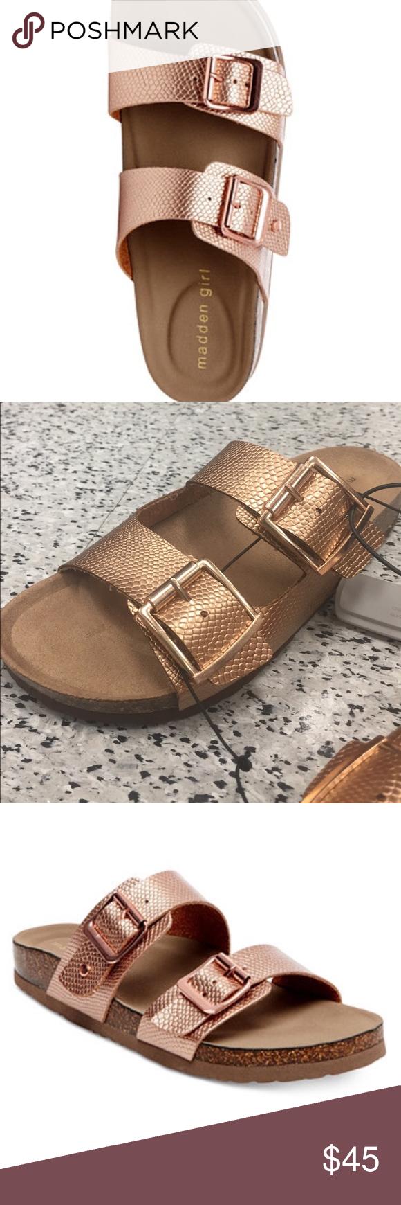 118bf71d4da Madden Girl Rose Gold knockoff Birkenstocks Brand new with tags Birkenstock  Shoes Sandals