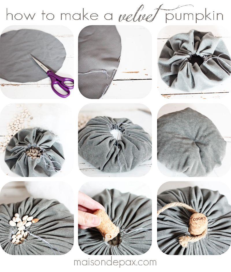 DIY Velvet Pumpkin Tutorial - Maison de Pax