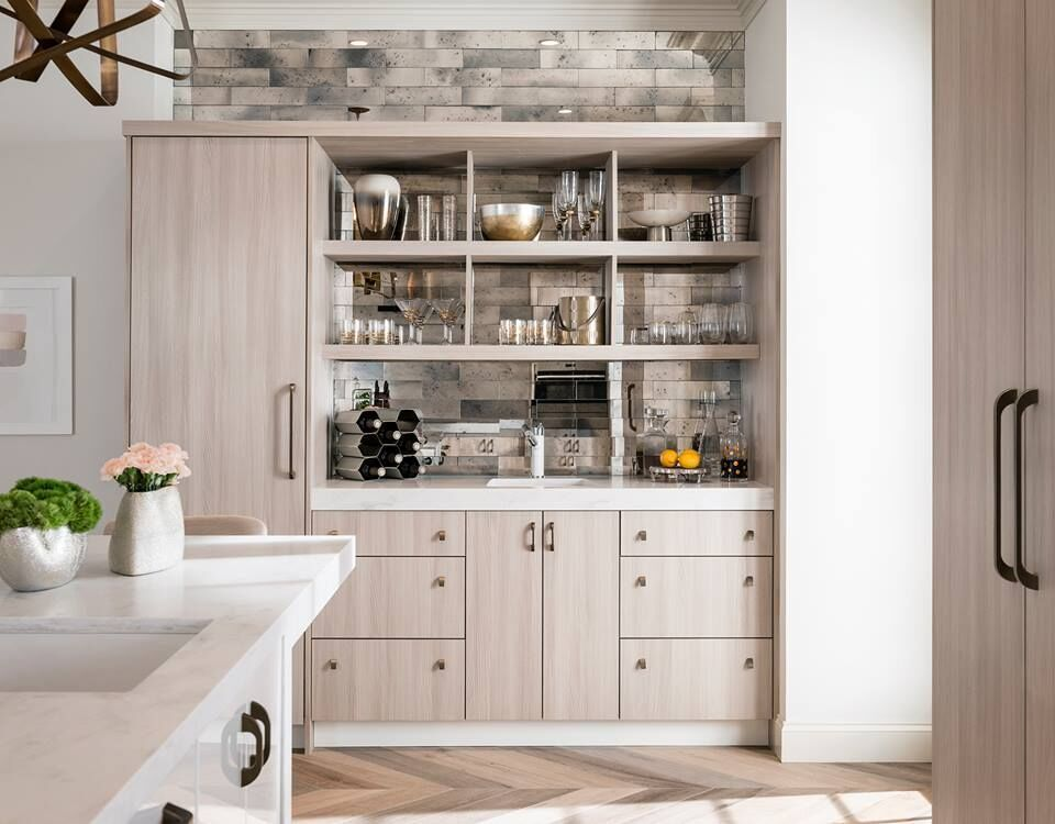 Light color wooden cabinets by Ultracraft | Kitchen ...