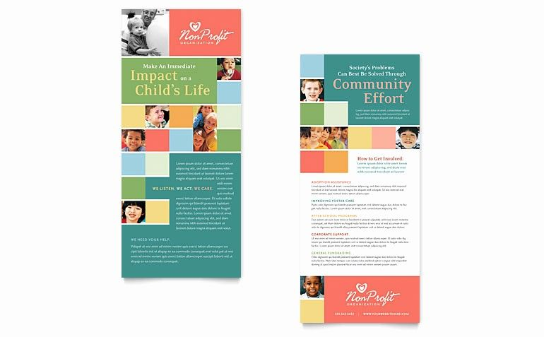 Rack Card Template Microsoft Word Best Of Non Profit Association For Children Rack Card Template Rack Cards Design Rack Card Templates Rack Card