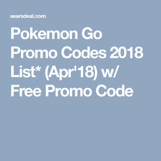 Pokemon go promo codes 2019 september