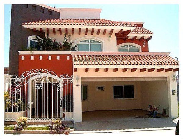 Casas californianas fachadas andr s pinterest casas for Planos de casas modernas mexicanas