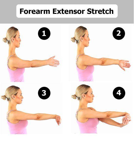 Extensor Stretch For Tennis Elbow Tennis Elbow Treatment Tennis Elbow Tennis Elbow Relief