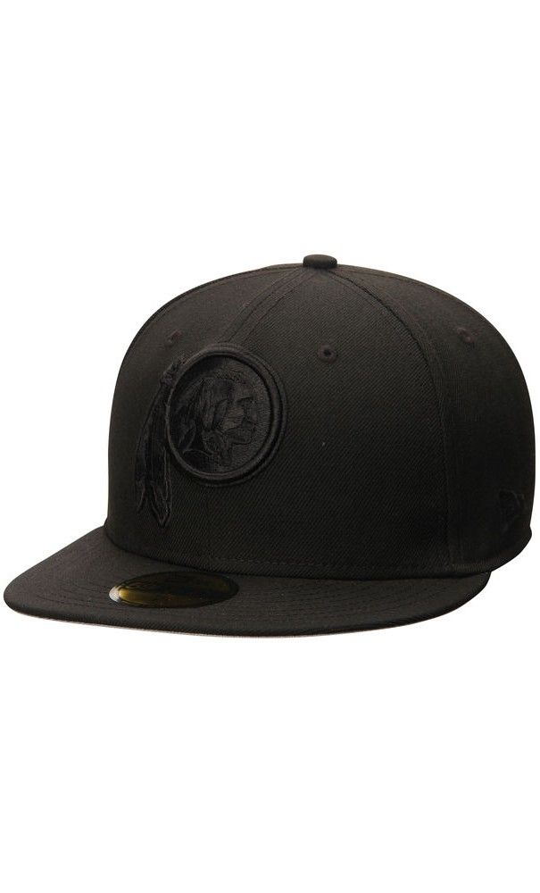 NFL Men s Washington Redskins New Era Black Tonal 59FIFTY Fitted  Hat  trip 28a1e9e6f05