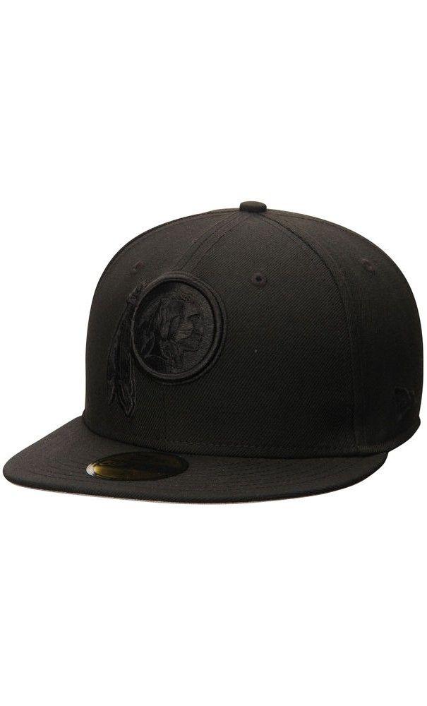 e8a1de7f9 NFL Men s Washington Redskins New Era Black Tonal 59FIFTY Fitted  Hat  trip