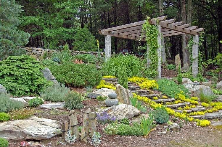 Rocaille Jardin Conseils De Construction Et Photos Inspirantes Jardin En Pente Jardin De Rocaille Jardins