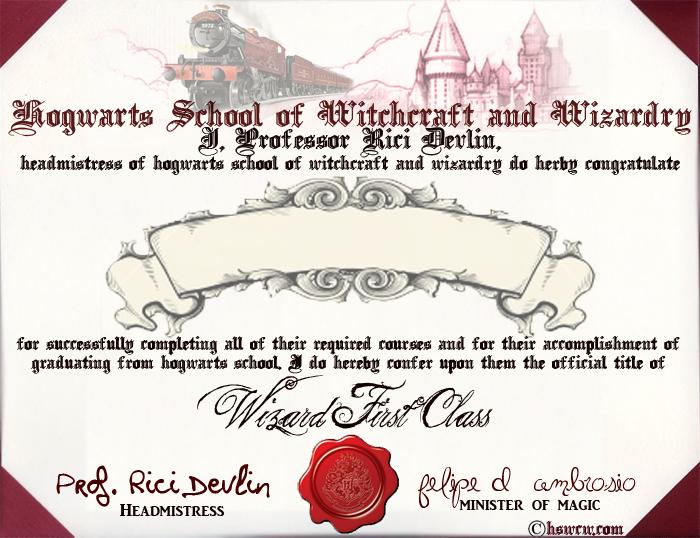 Hogwarts diploma.   random   Pinterest   Hogwarts online, Hogwarts ...