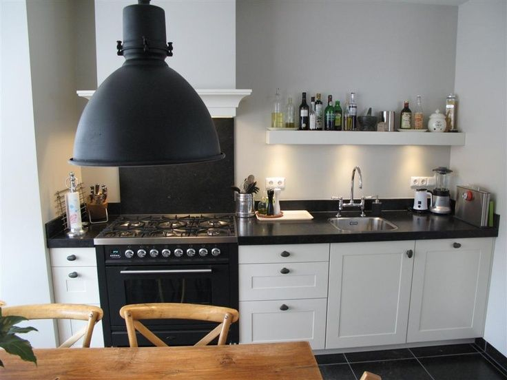 Witte keuken boretti gasfornuis houten vloer google zoeken küche