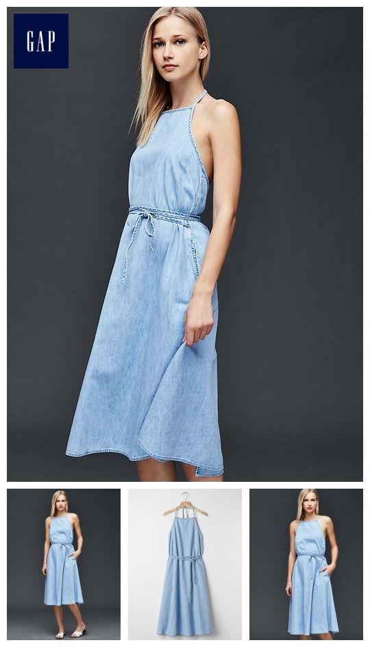 Abbie De Castro Denim Designer Gap Womens Wrap Dress Summer 2016