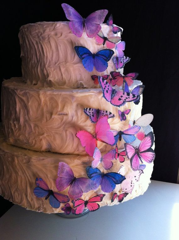 Wedding Cake Topper The Original Edible Butterflies Cake Cupcake