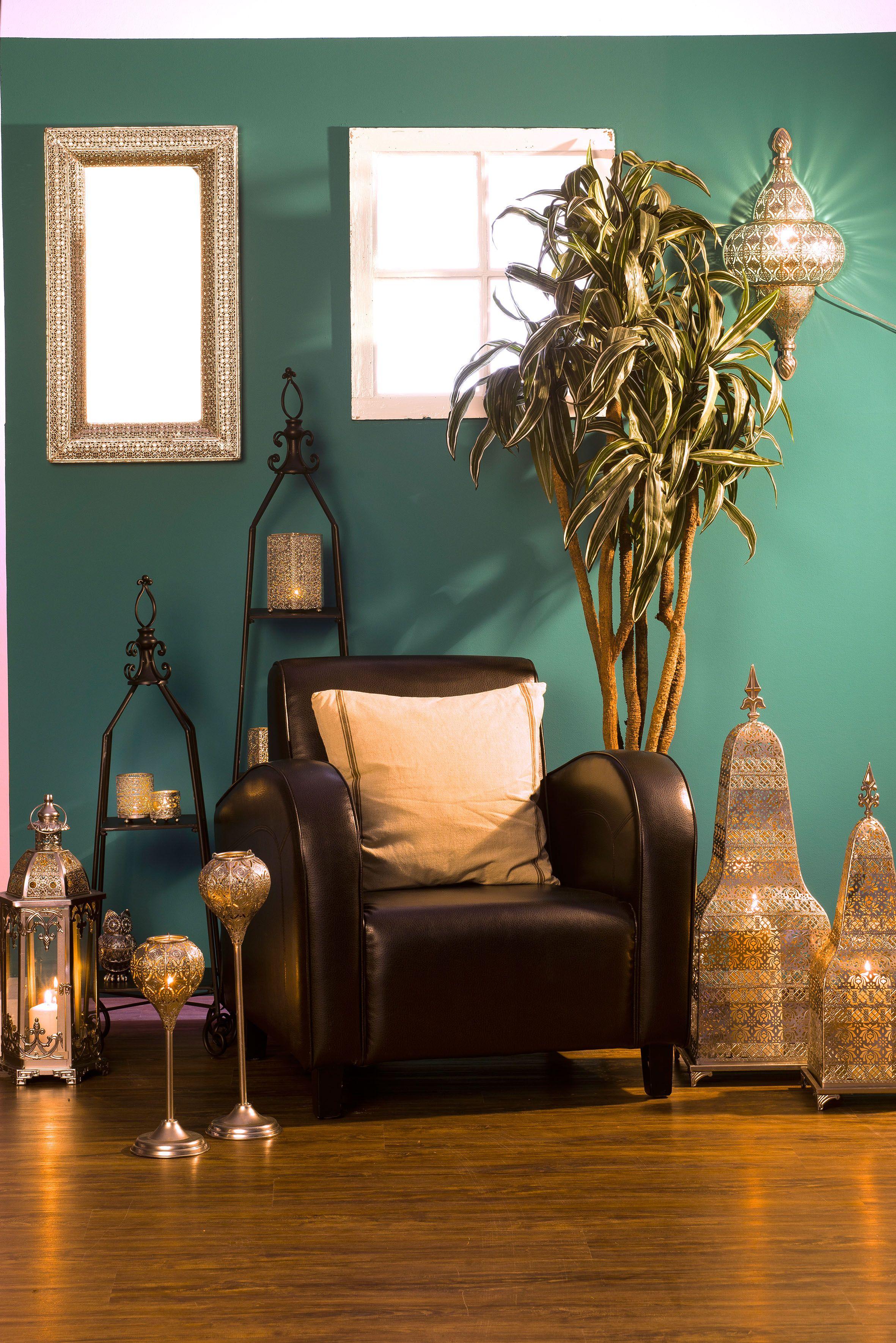 Photophores lanternes et bougeoirs en m tal pour donner - Lanterne interieur decoration ...