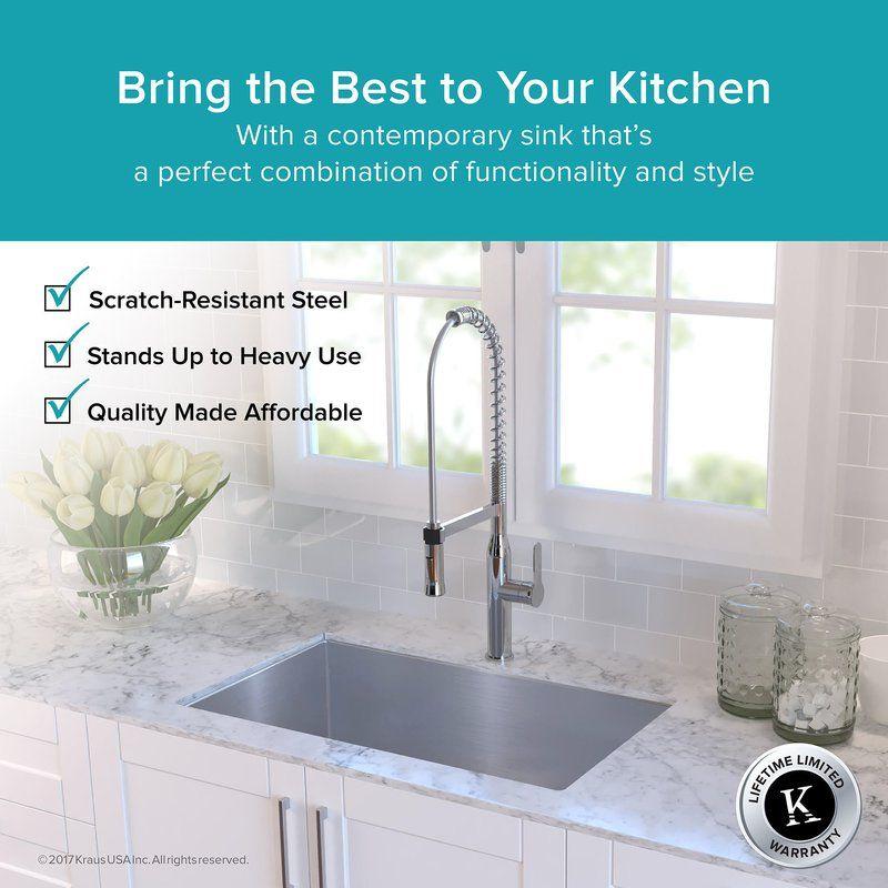 30 X 18 Undermount Kitchen Sink Undermount Kitchen Sinks Kitchen Sink Remodel Single Bowl Kitchen Sink