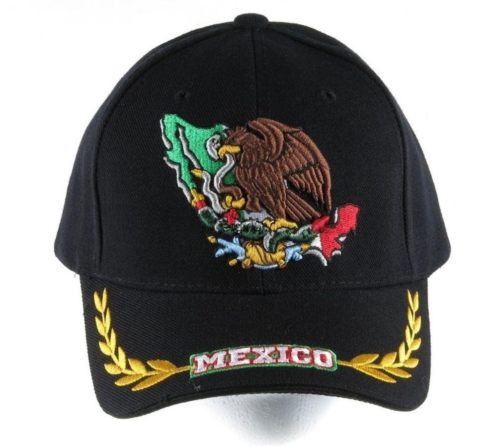MEXICO  Eagle BASEBALL CAP HAT Tan Adjustable NEW Wool Blend