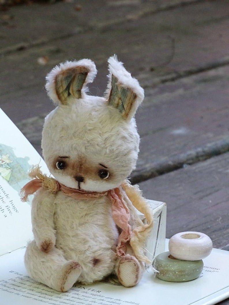 Pastel Beige Artist Teddy Bunny Teddy Bear Friends Etsy テディベア バニー ペット おもちゃ
