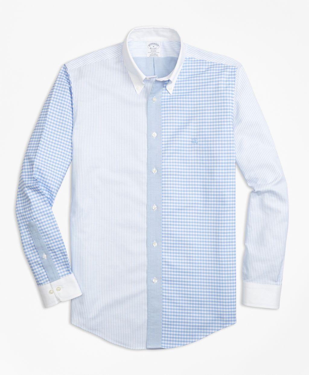b499ea6c Non-Iron Regent Fit Fun Sport Shirt - Brooks Brothers Denim Shirt Men, Man