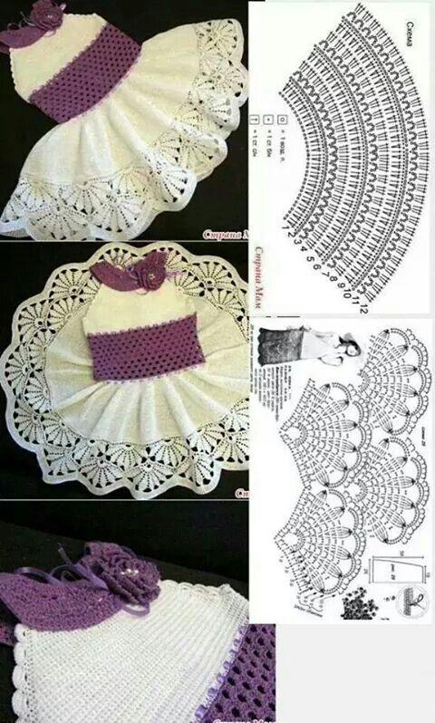 Patrones | Ropa bebes | Pinterest | Patrones, Vestidos de ganchillo ...