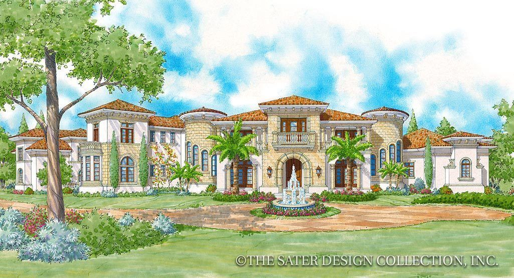 Loma Prieta House Plan Sater Design Collection In 2020 House Plans Mediterranean Mansion Sycamore House