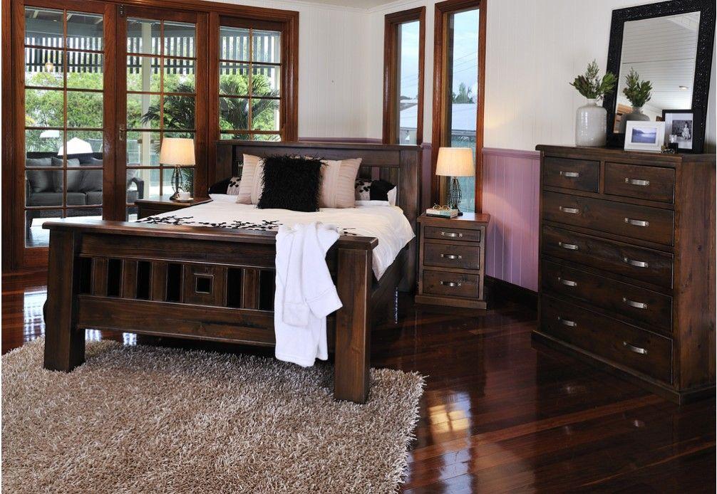Queen Bed Frame Early Settler: Settler 4piece King Dresser With Mirror Bedroom Suite