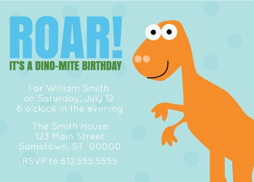 Customized Dinosaur Birthday Party Invitation and by NotedPress, $18.50