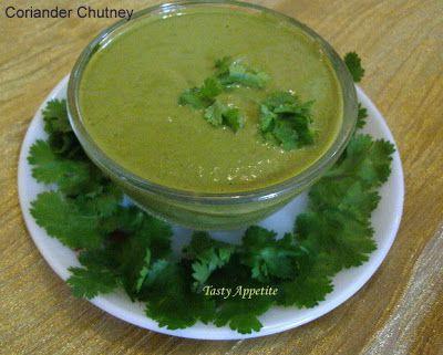 Tasty Appetite: Coriander Chutney   / Hara Dhaniya Chutney