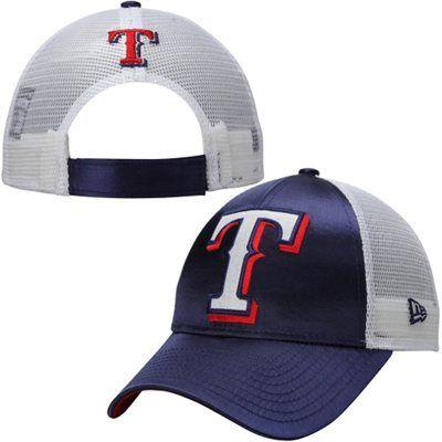 New Era Texas Rangers Women S Blue Satin Chic 9forty Adjustable Hat Texas Rangers Adjustable Hat Blue Satin