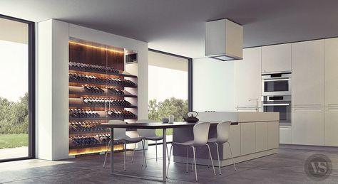 Une cave à vin contemporaine qui s\'intègre parfaitement dans votre ...