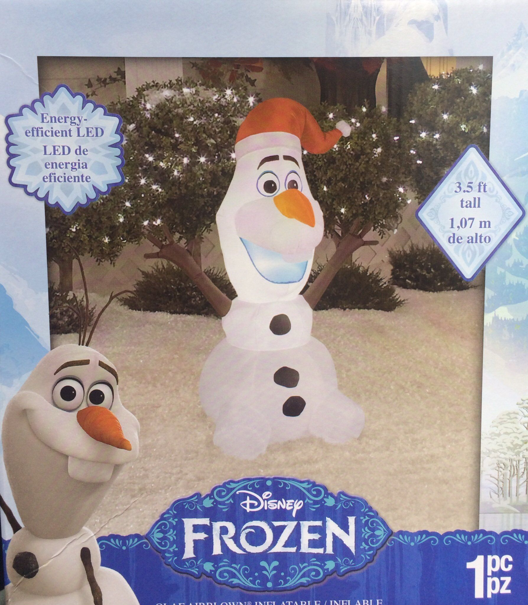 disney frozen olaf gemmy airblown inflatable outdoor christmas figure - Olaf Outdoor Christmas Decoration