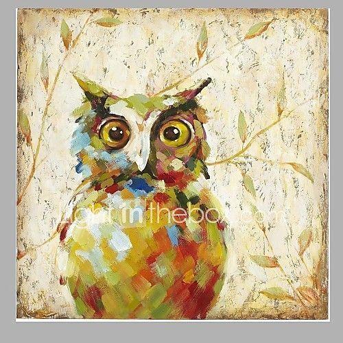 2016 New Design Cute Night Owl Oil Painting Fashion Modern Wall Art ...