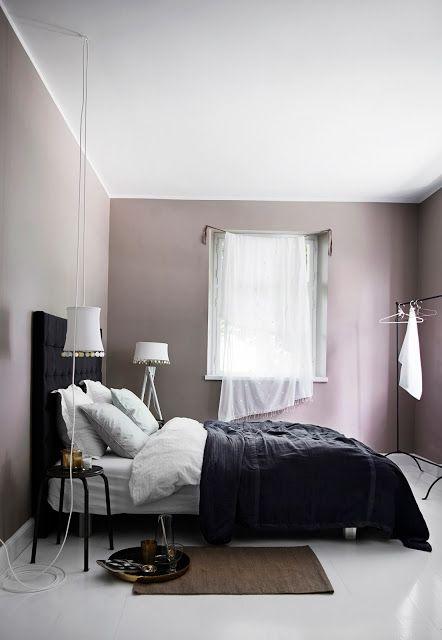 Mauve And Black Color Scheme Idea For Bedroom Pink Bedroom