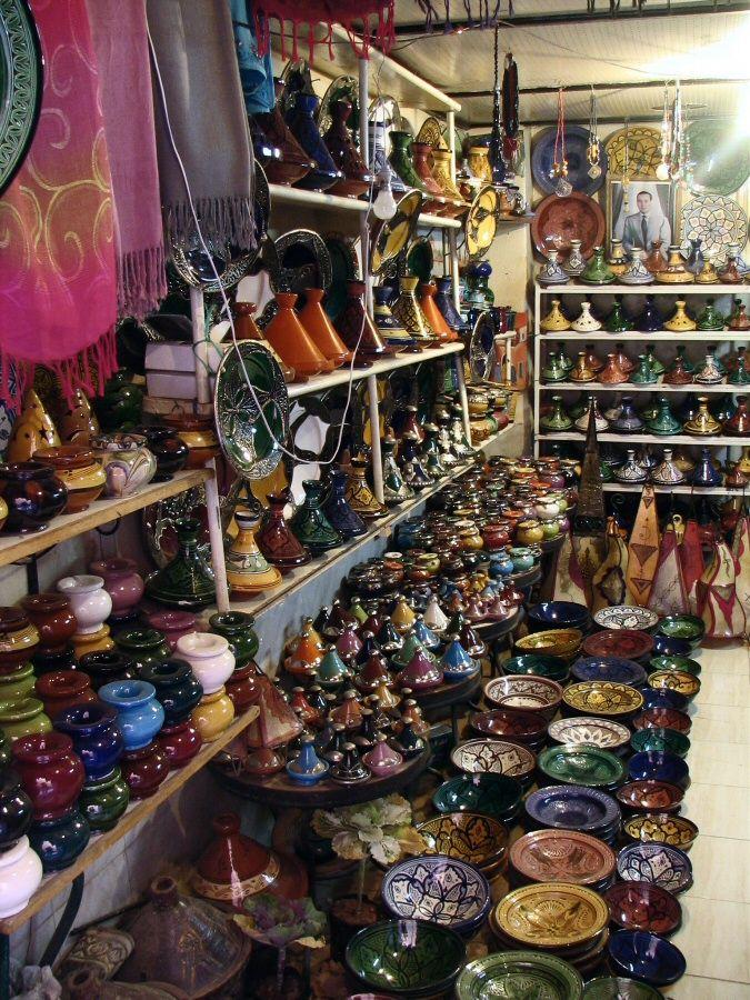 Tienda de artesanía de la medina de Marrakech