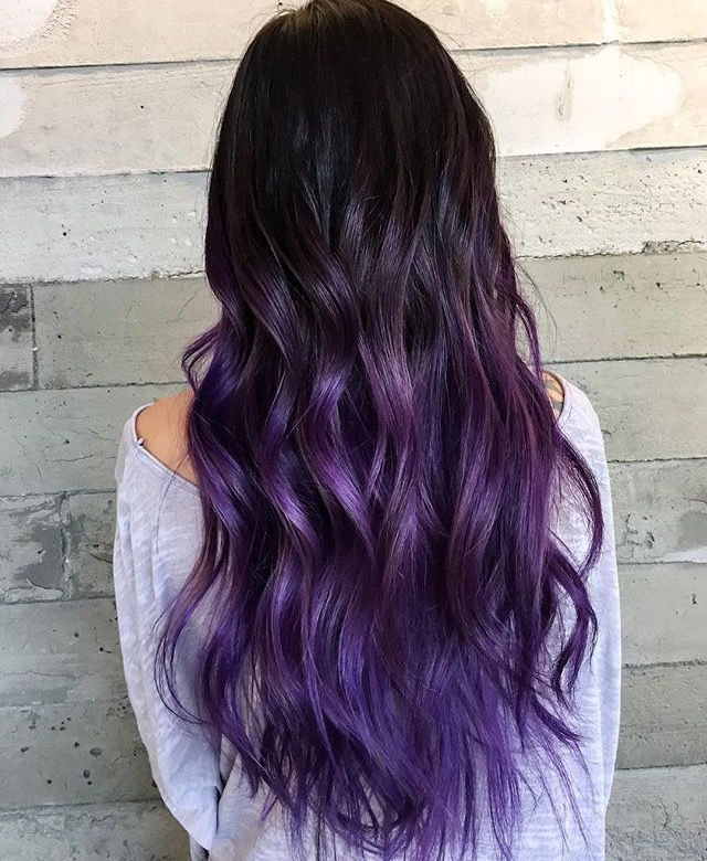 Pin By ℭ 𝔞 𝔰 𝔰 𝔶 🦠 On Hair In 2019 Purple Black Hair