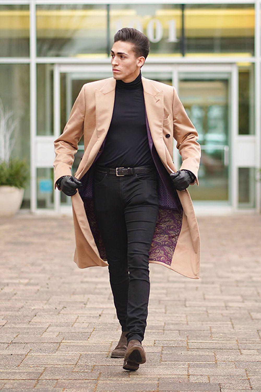Men S Overcoat Winter Fashion Giorgenti New York Black Jeans Men Mens Overcoat Jeans Outfit Men [ 1500 x 1000 Pixel ]