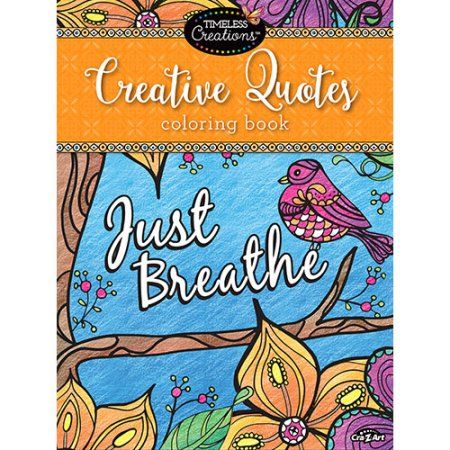 Cra Z Art Timeless Creations Creative Quotes Coloring Book Multicolor