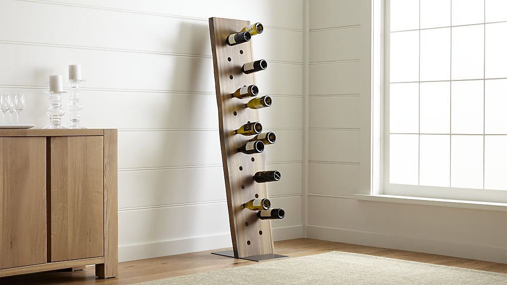 Dakota 24 Bottle Leaning Wine Rack Crate And Barrel Diy In 2018