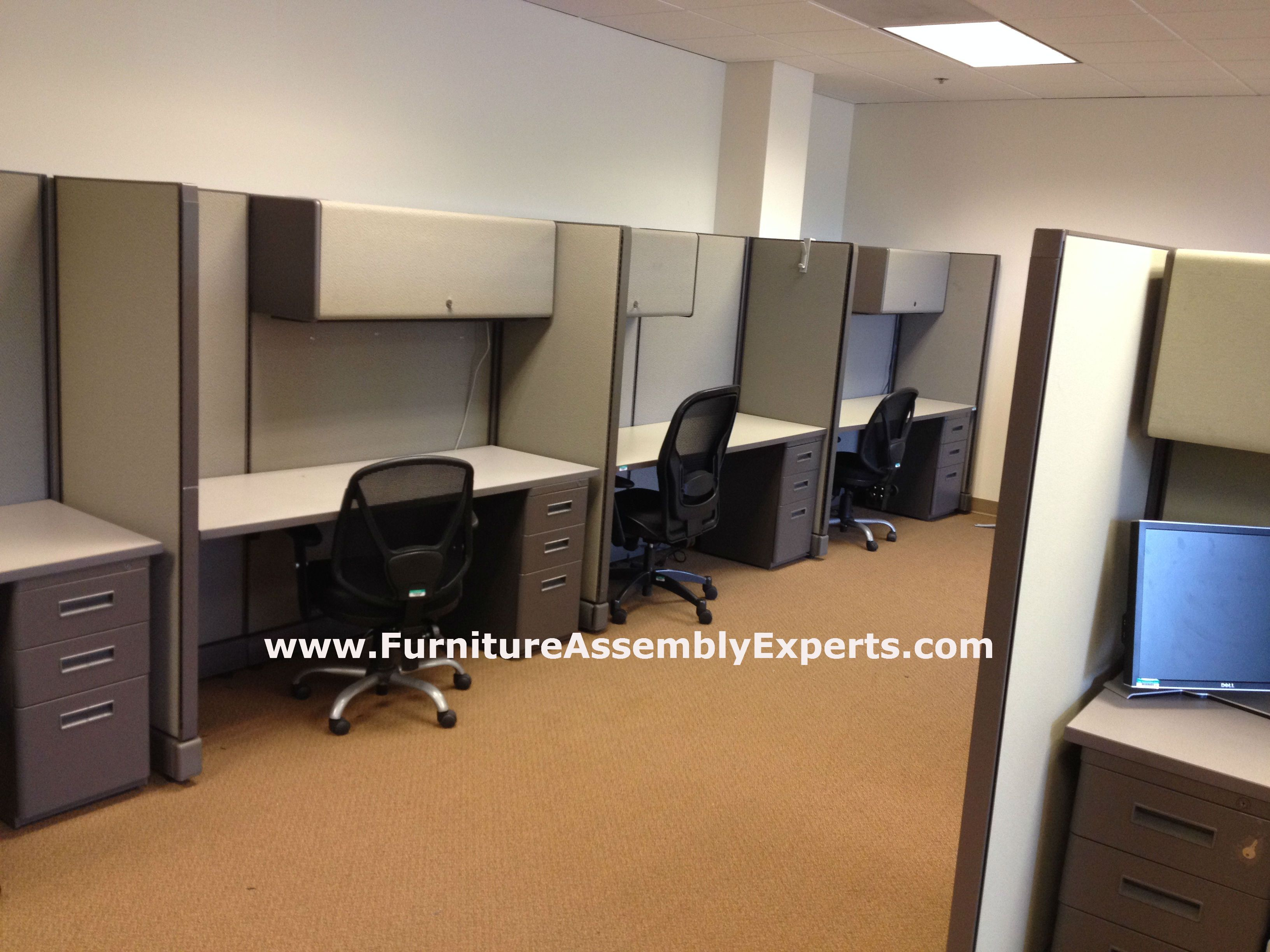 Used Office Cubicles Installed In Southern Md By Furniture Assembly Experts Llc Furniture Assembly Office Cubicle Mover Company