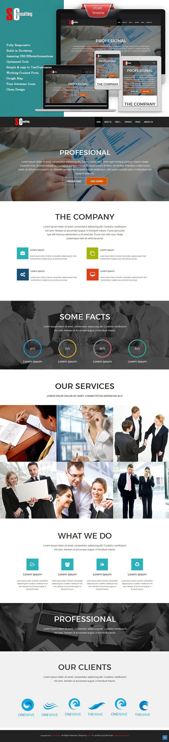 S Consulting HTML Template. Bootstrap Templates | Bootstrap ...
