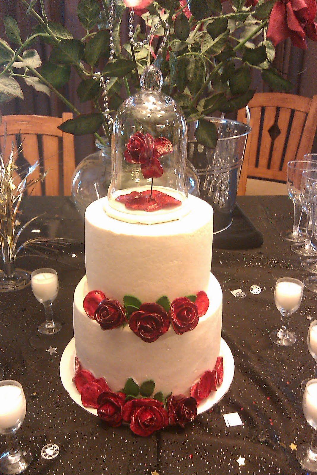 Beauty the beast cake beauty and the beast wedding