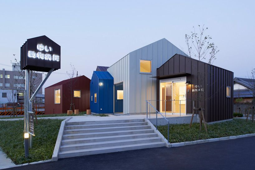 A Cluster Of Gabled Volumes Comprises Roote S Animal Hospital Hospital Architecture Hospital Design Animal Hospital