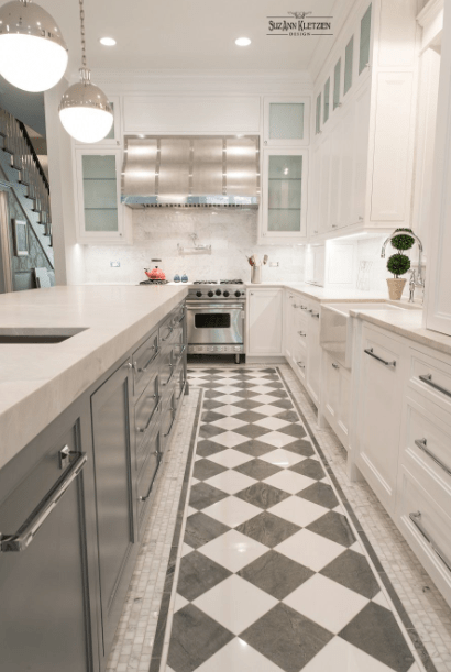 Top 30 Best Kitchen Flooring Ideas For The Perfect Kitchen Decorfame Checkered Floor Kitchen Kitchen Flooring Contemporary Kitchen