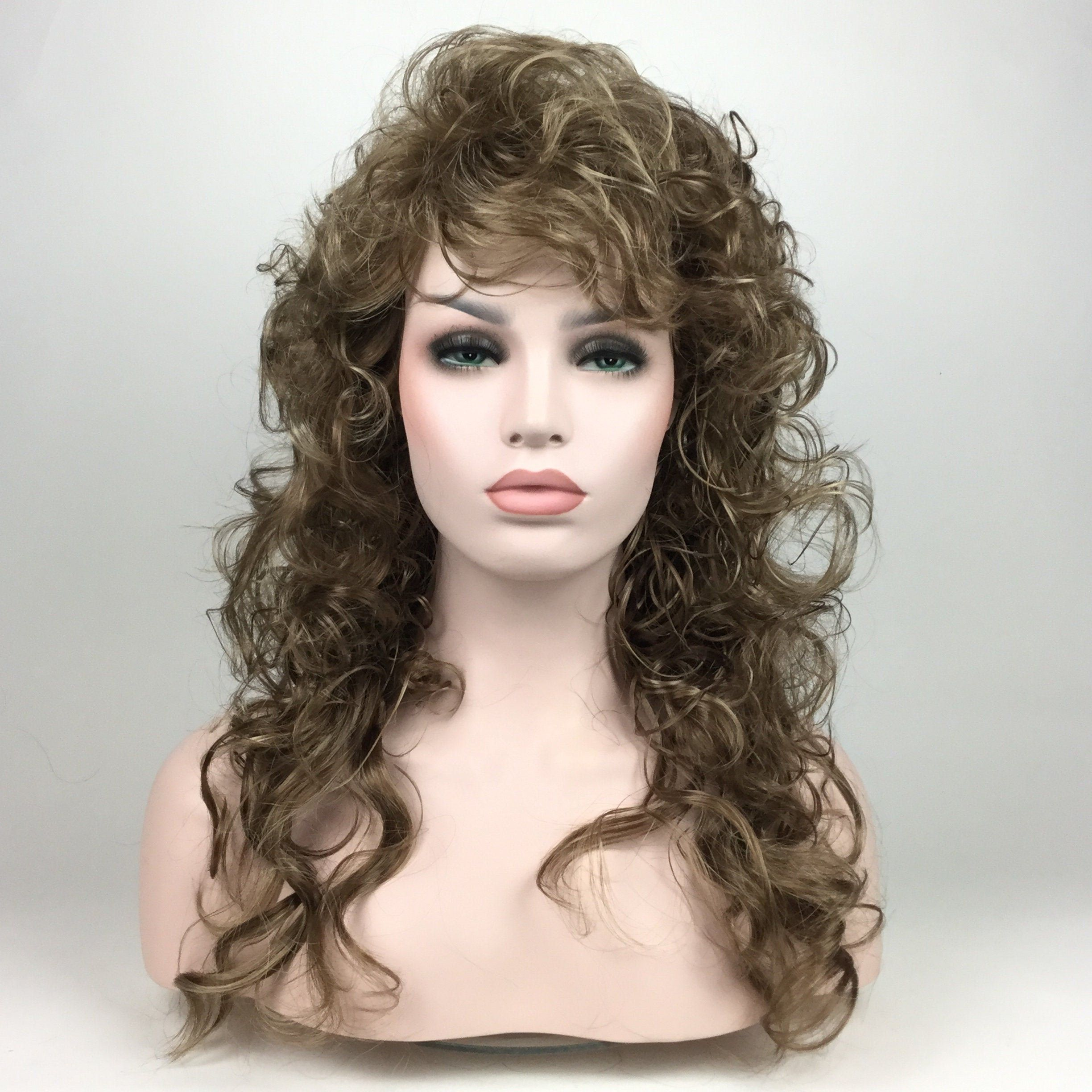 1980's BIG WAVY CURLY Hair Character Theatrical / Costume ...
